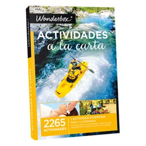 Wonderbox: Actividades a la carta