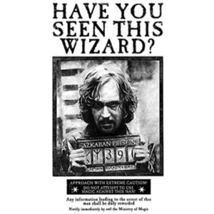 HARRY POTTER – Poster « Wanted Sirius Black »