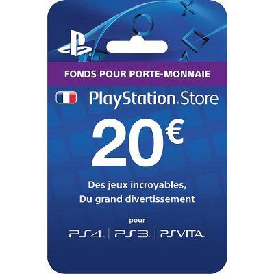 Jeu vidéo : Carte Playstation Network 20 euros (PS4)