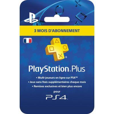 Jeu vidéo: Carte 3 mois d'abonnement PlayStation Plus (PS4)