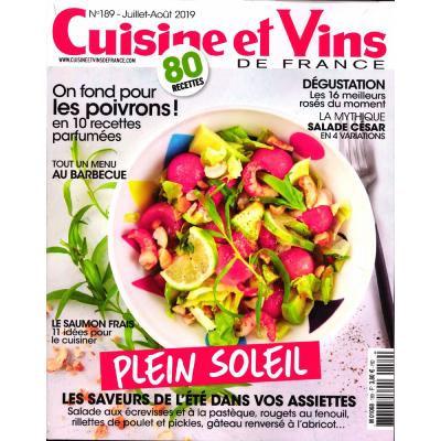 Cuisine et vins de France - 12 mois d'abonnement - 6 numéros