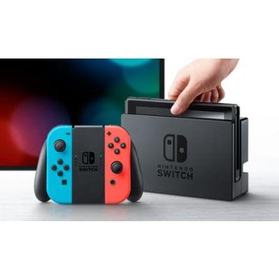 Jeu Vidéo : Console Nintendo Switch Néon Bleu et Rouge