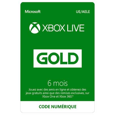 Jeu vidéo : Code de téléchargement Xbox Live Gold