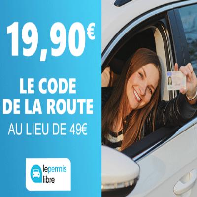Code de la route à 19,90€ au lieu de 49€