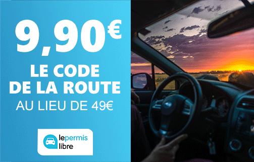 Code de la route à 9,90€ au lieu de 49€