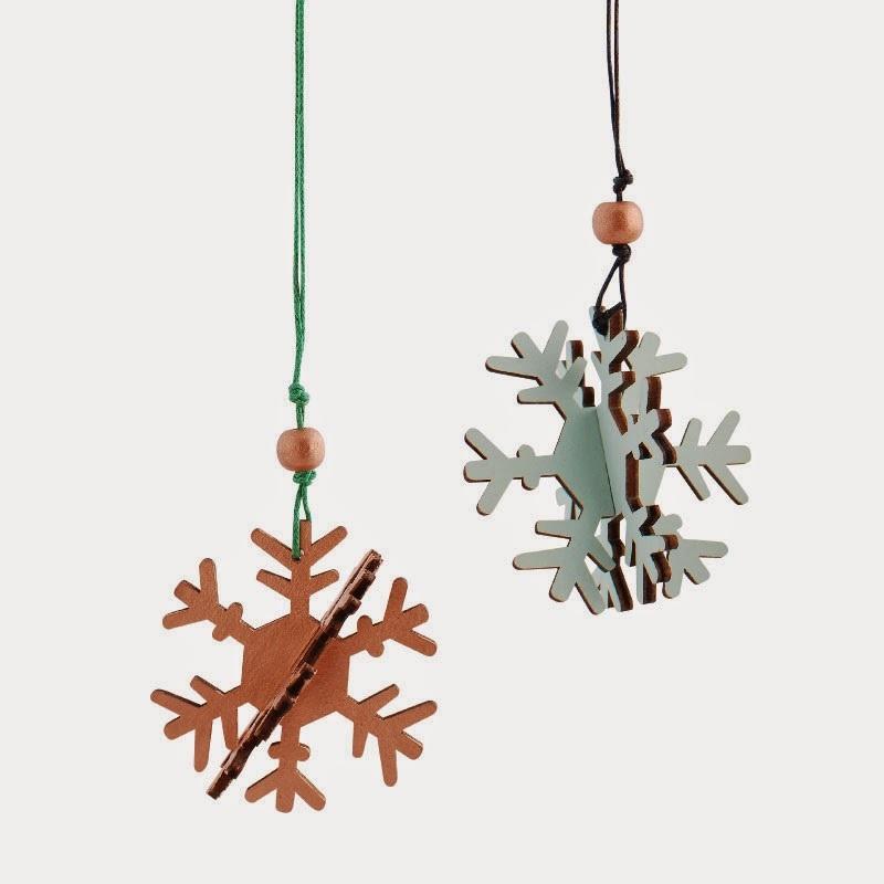 Joulukoristeet - Riippuvat Lumihiutaleet