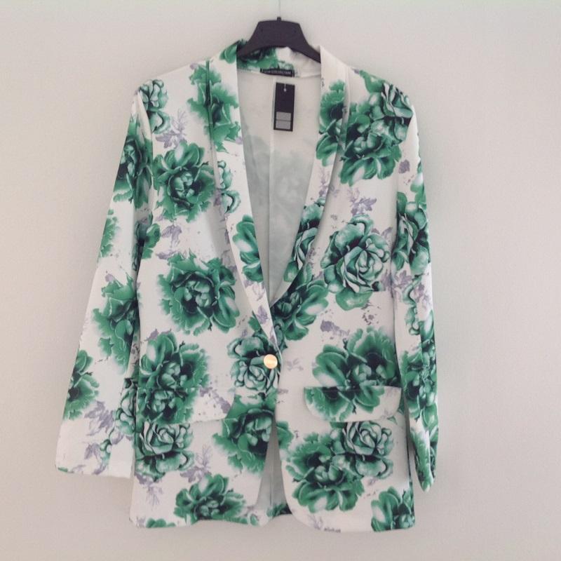 65e09915 M3 Panel - Min Panelshop - Habit jakke med roser - Grøn