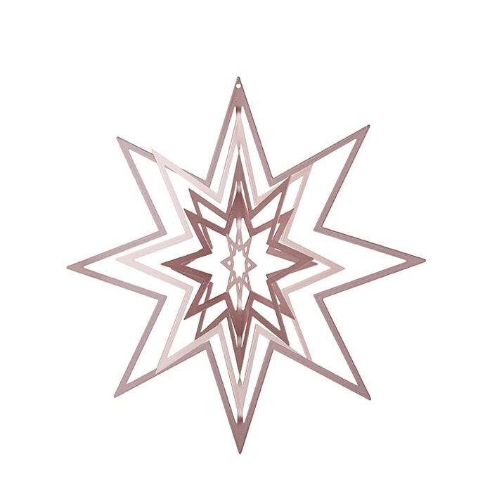 3D-stjärna - rosa