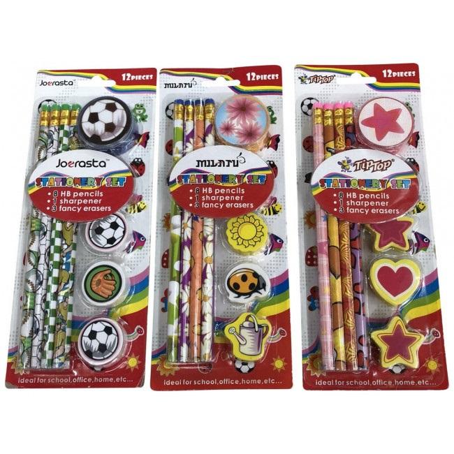 Blyertspennor med motiv bla. Fotboll