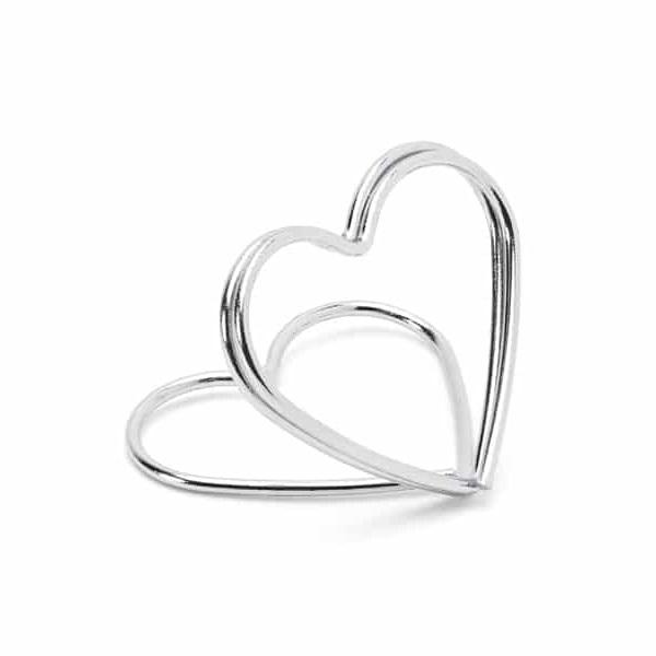 Placeringskorthållare - silverhjärta