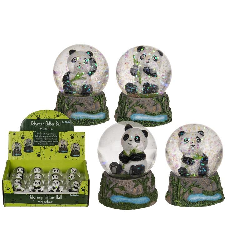 Glitterkugle - Panda