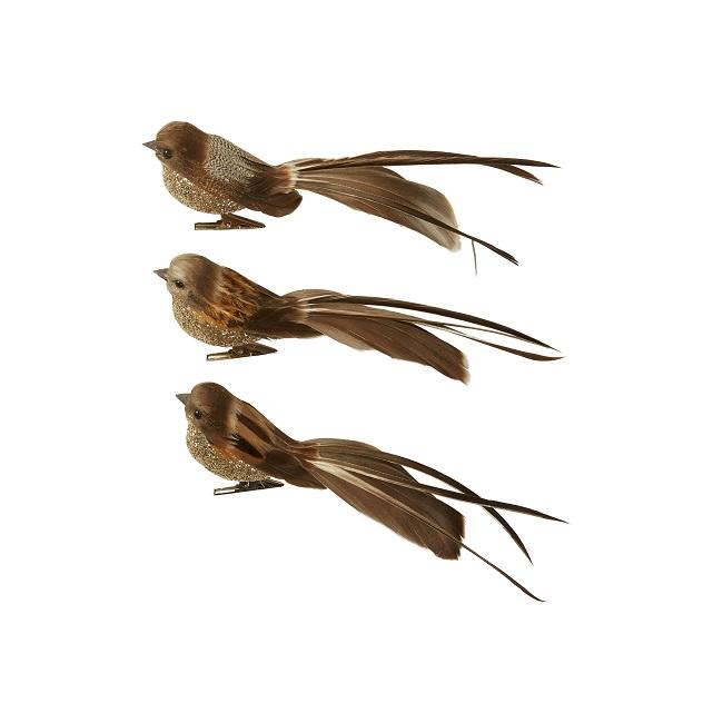 Fugl med klips - 17 cm