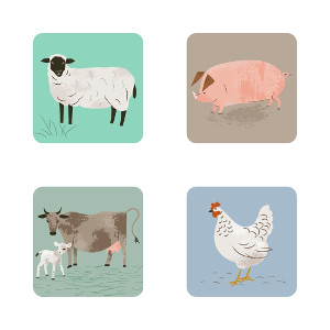 Hugletts Wood - Set of 4 Coasters