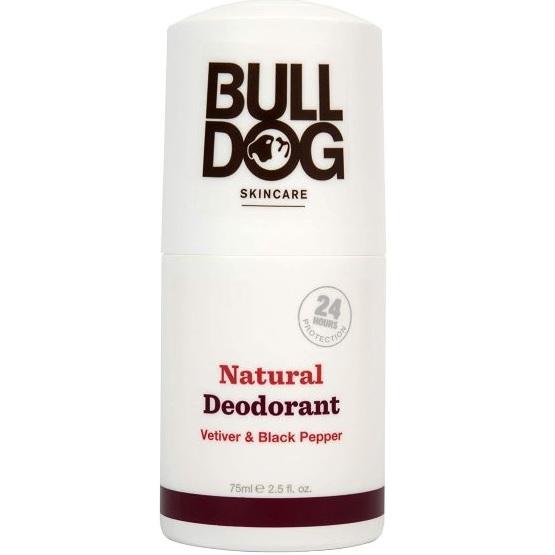 Bulldog Skincare Vetiver and Black Pepper Roll On Natural Deodorant 75ml