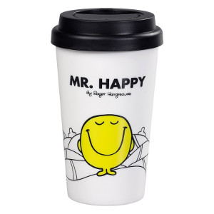Mr Happy Travel Mug